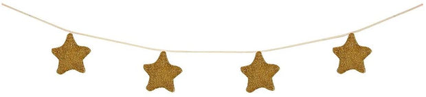 gold knitted star garland