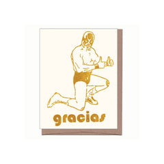 gracias luchador thank you card