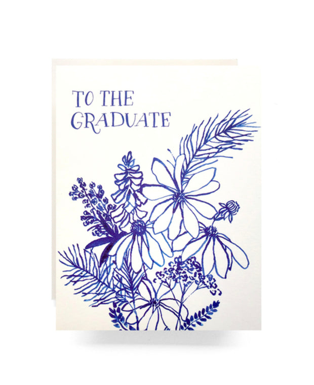 indigo wildflowers graduate card