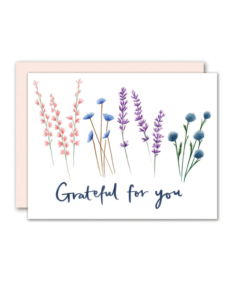 grateful for you card