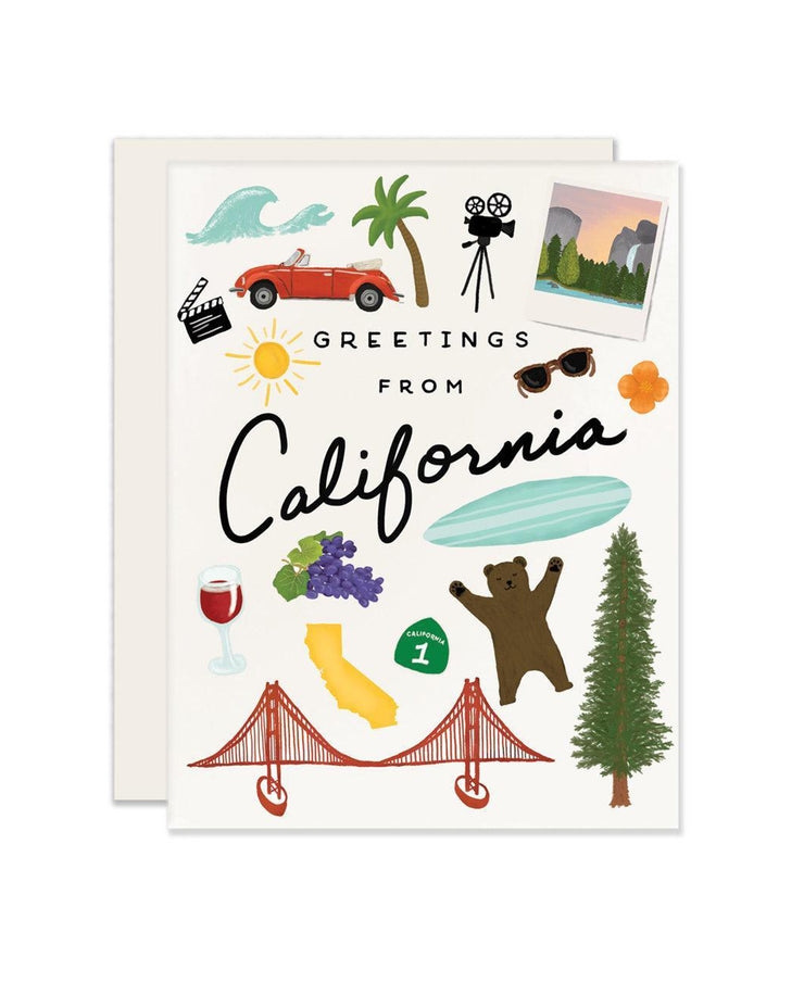 california greetings card