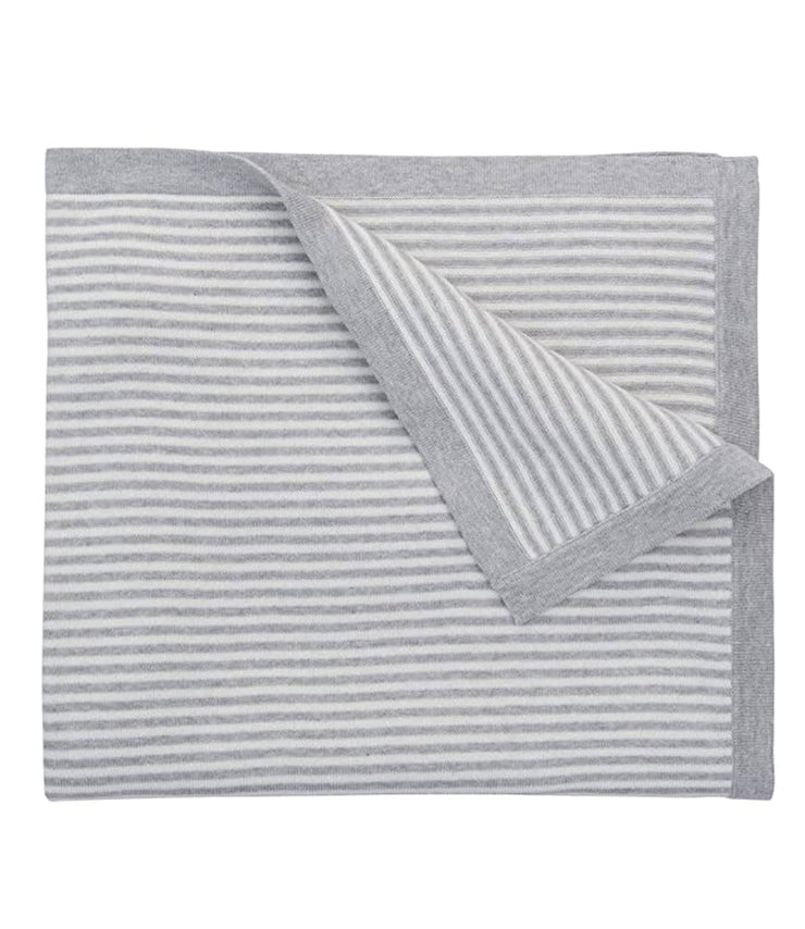 mini stripe blanket - gray