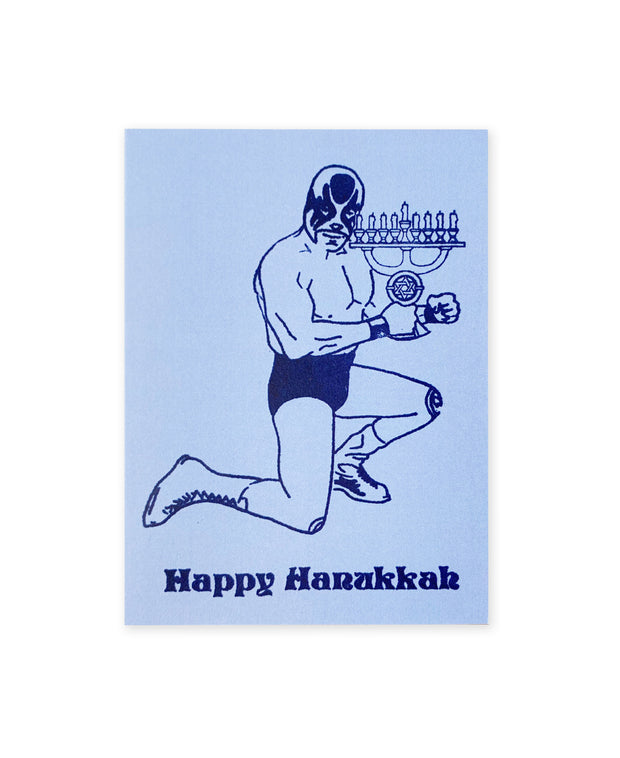 hanukkah luchador cards - set of 8