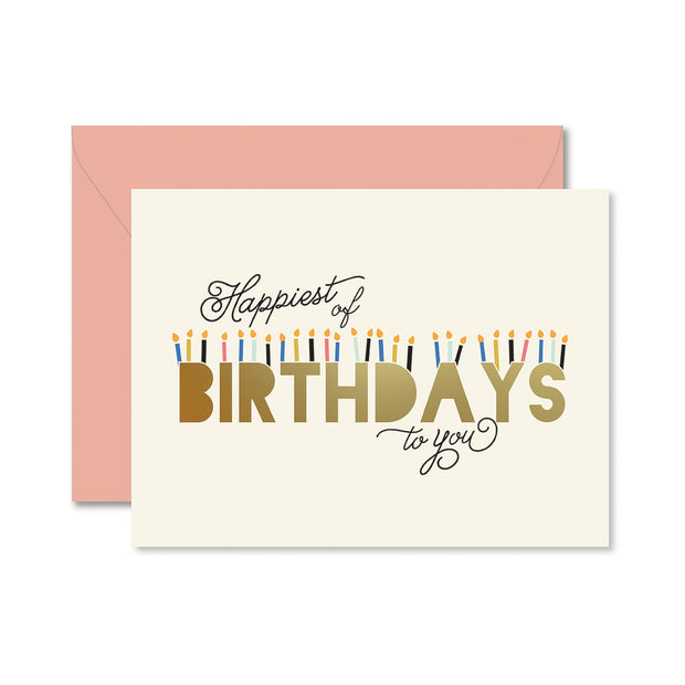 happiest of birthdays coral card