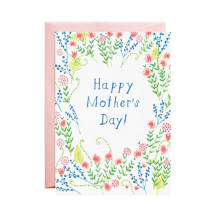 mother's day wildflowers card