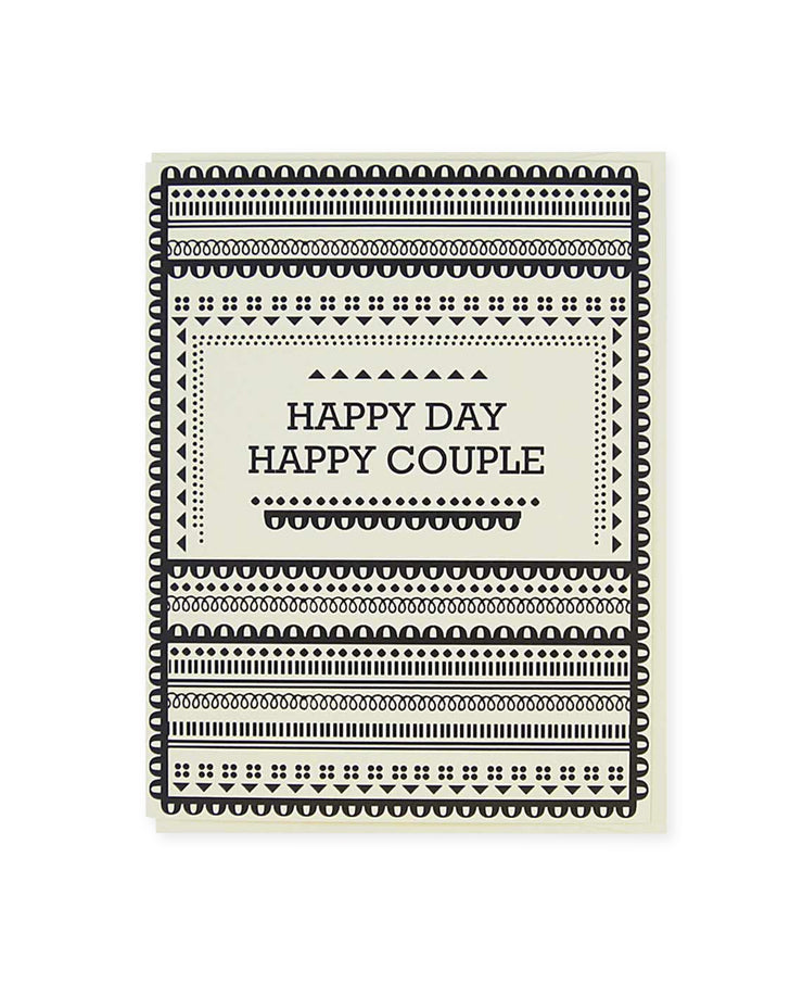 happy couple pattern card