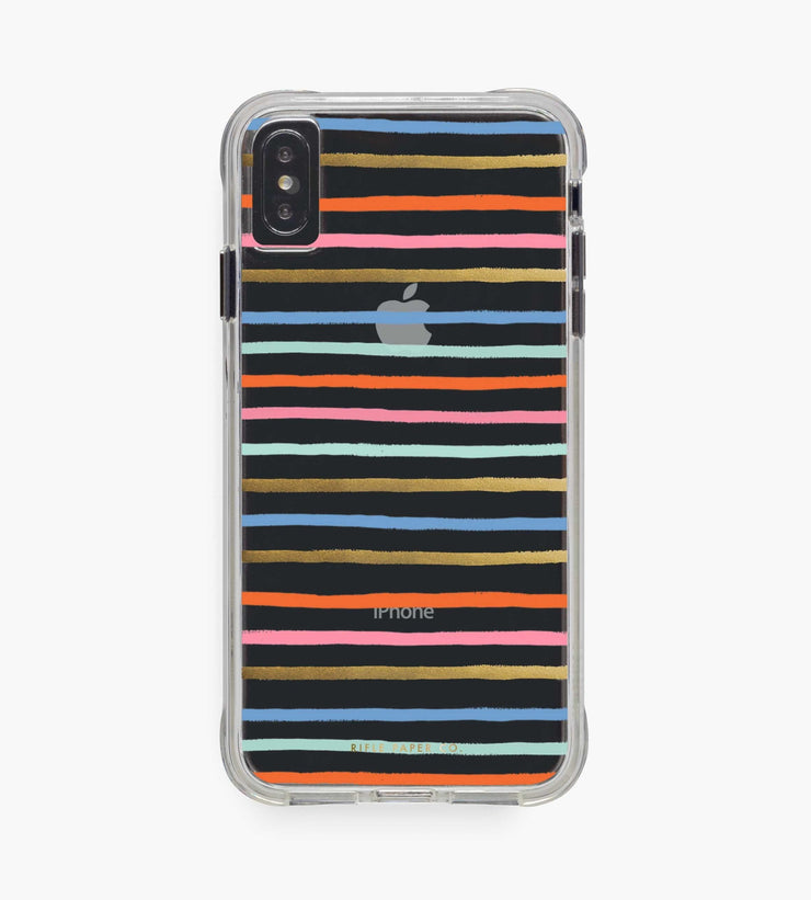 clear happy stripes iphone xsm case
