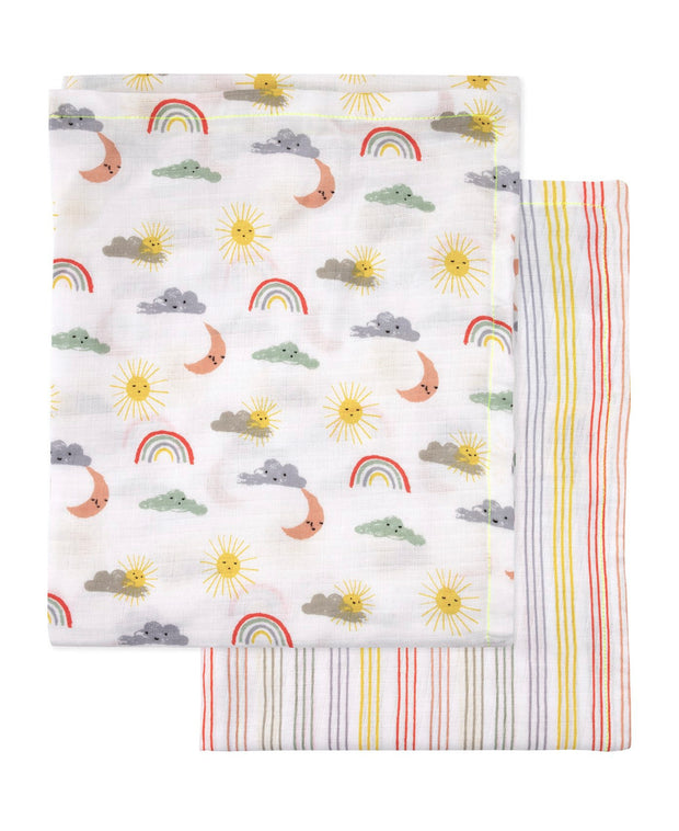 happy weather baby swaddle set