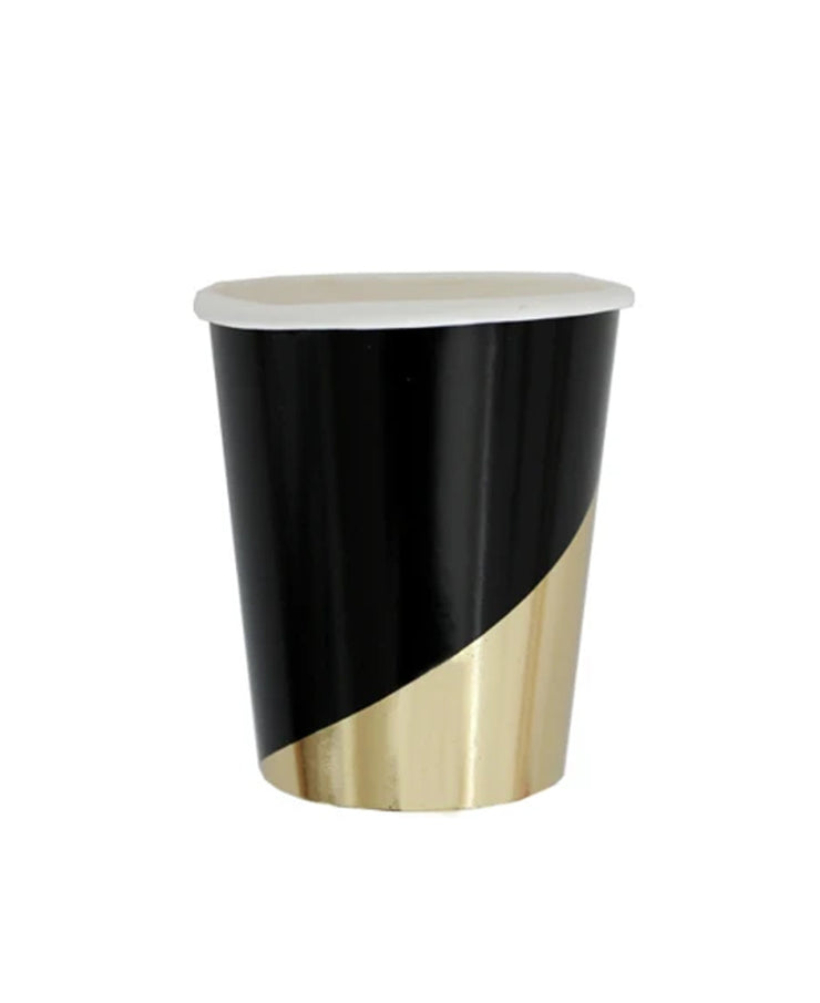 noir black colorblock paper cups