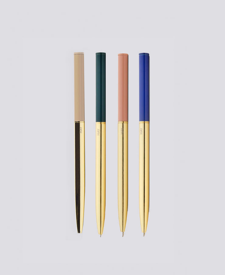 hay gold twist pen - various colors