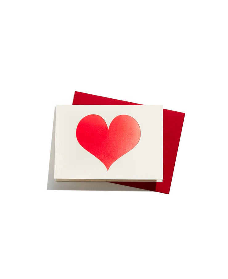 red heart enclosure card
