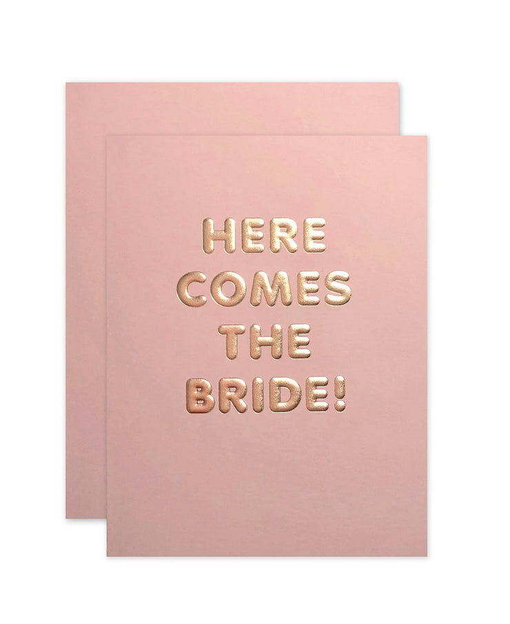 here comes the bride card