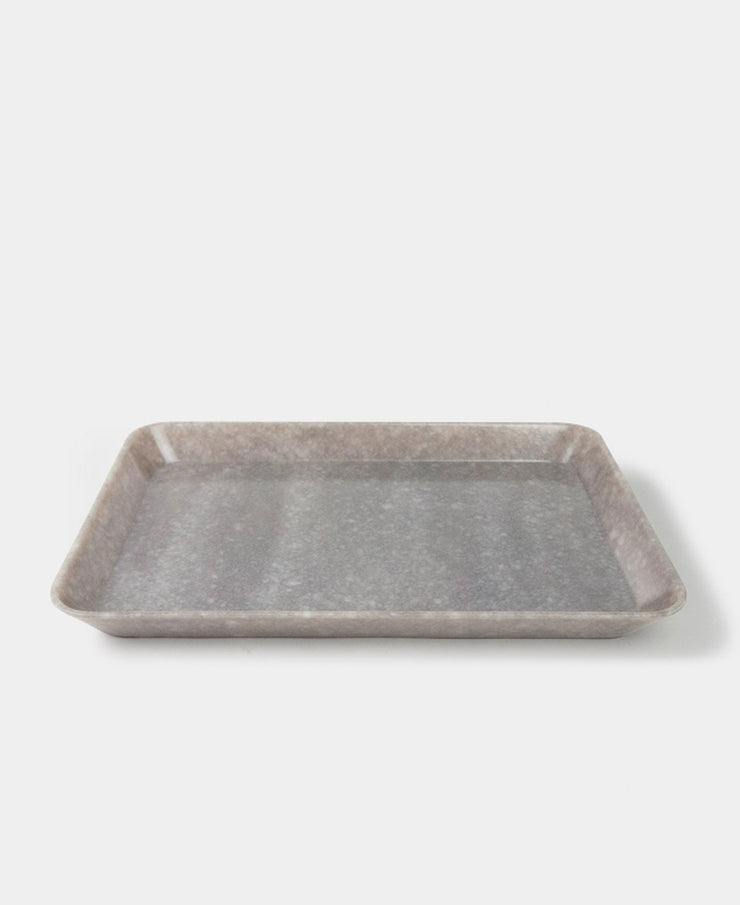 melamine marbled tray - grey