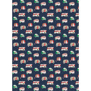 camper holiday gift wrap - 2 sheets