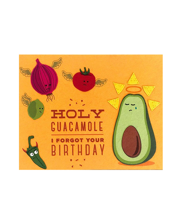 holy guacamole belated birthday card