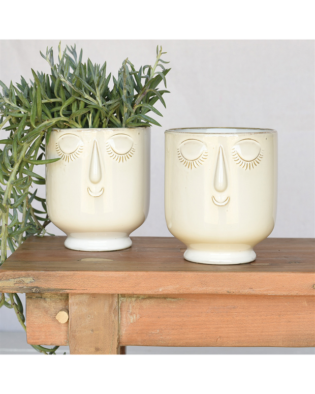celia ceramic cachepot - large and small sizes