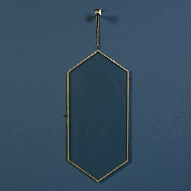 geo ornament frame, brass - large