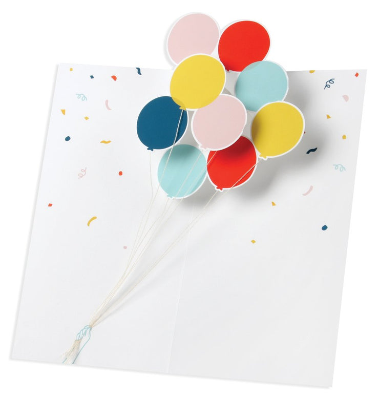 hooray balloons pop-up card