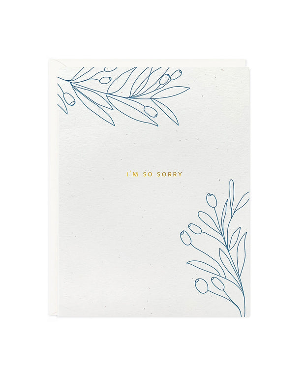 i'm so sorry botanical sympathy card