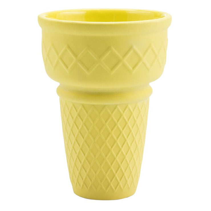 yellow ice cream planter
