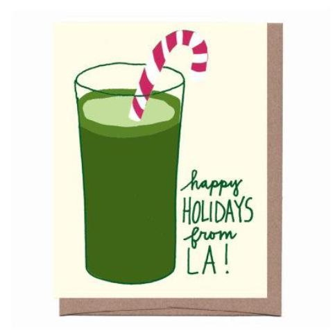 LA green juice cards - set of 8