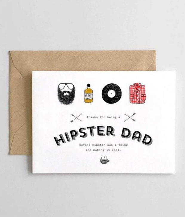 hipster dad card
