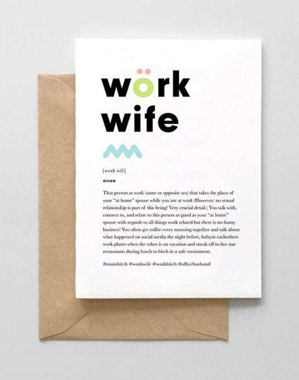 work wife card