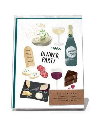 dinner party cards boxed set of 8