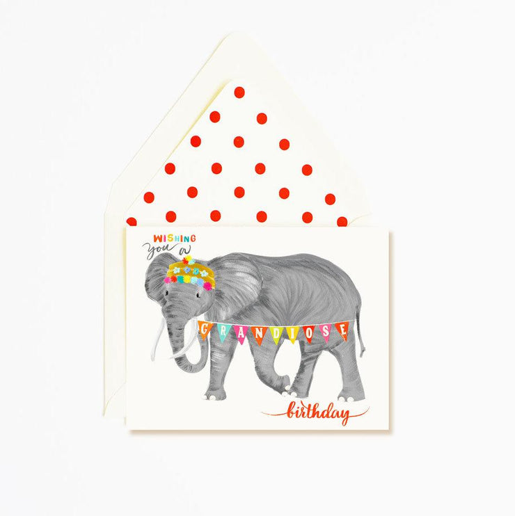 grandious elephant birthday card