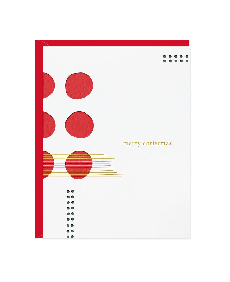 merry christmas jazz card - single or set of 6