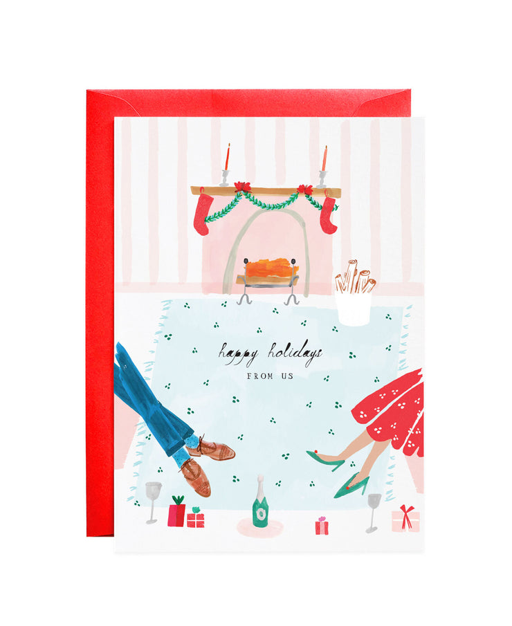 join us by the fire cards - set of 6