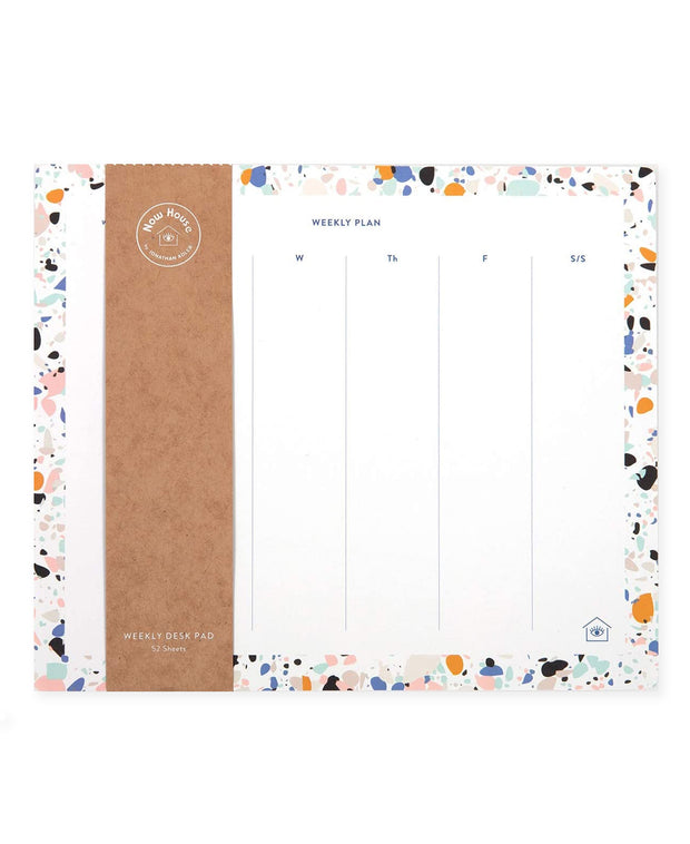 now house by jonathan adler weekly desk pad