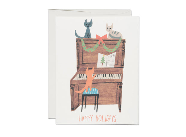kitty carols holiday card