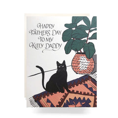 kitty daddy greeting card