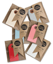 parcel gift tags- set of 10 - various colors