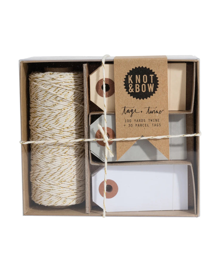 tags and twine set - gold + neutral