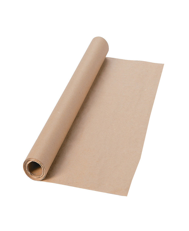 "kraft paper wrapping roll - 30"" x 15'"