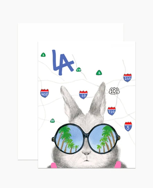 los angeles freeways bunny card