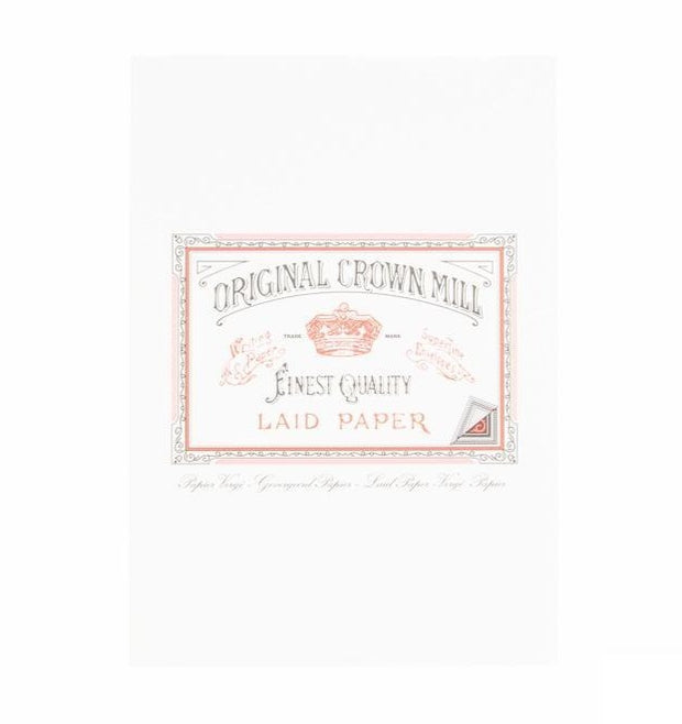 original crown laid paper writing sheets pad