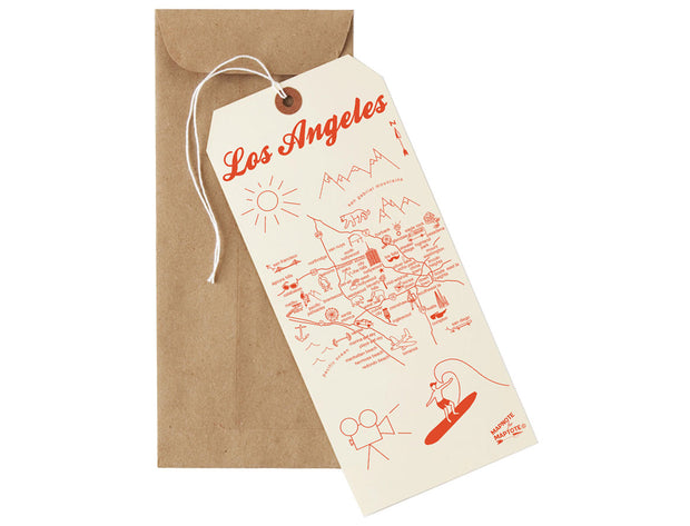 los angeles mapnote card