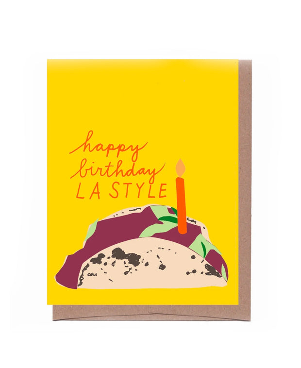 la style taco birthday card