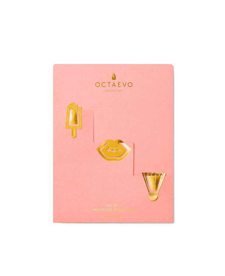 le club multi use clips on pink card