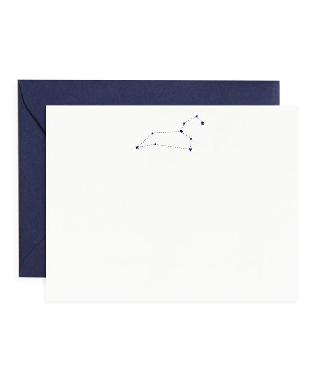 astrology notecards - set of 10 - virgo & leo