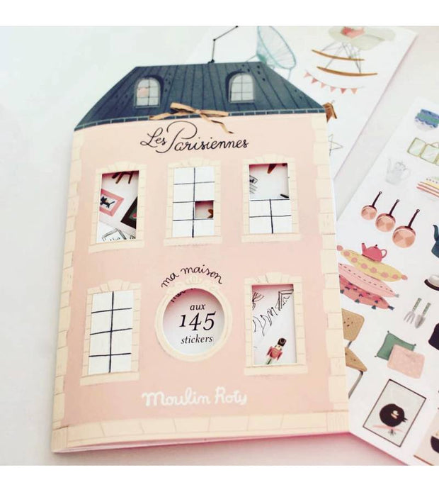 les parisiennes colouring + sticker book