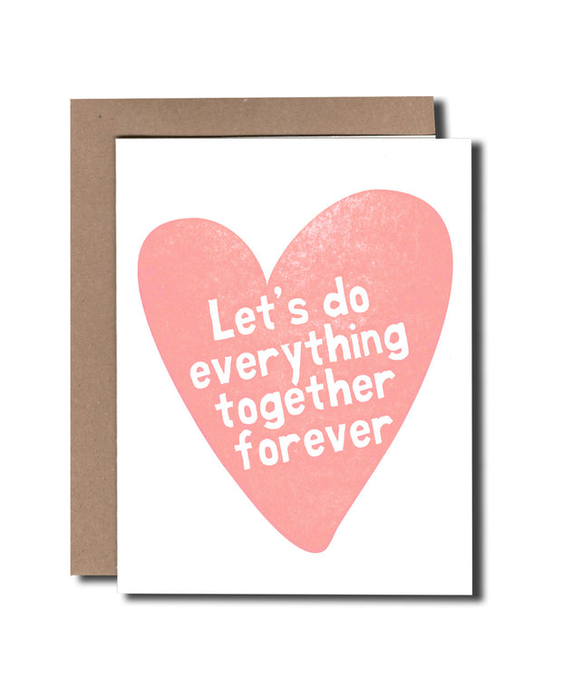heart everything together card