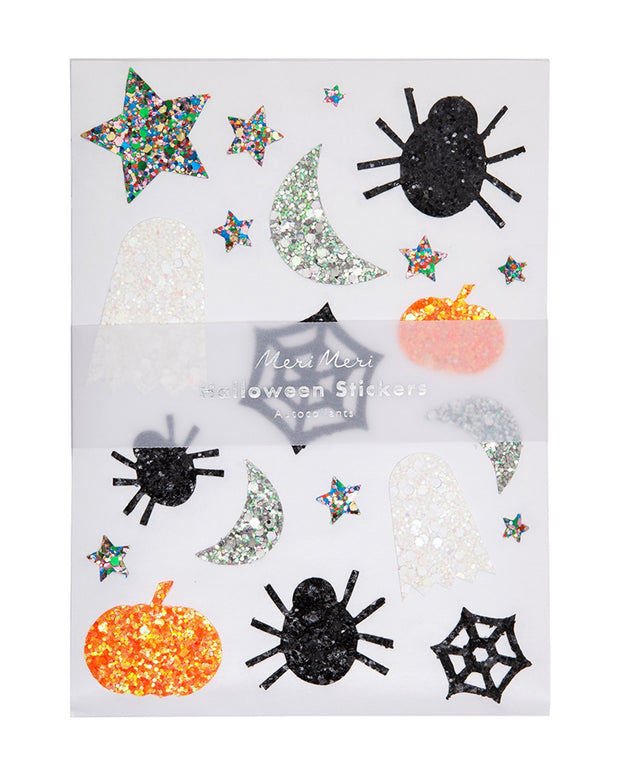 glitter halloween sticker sheet