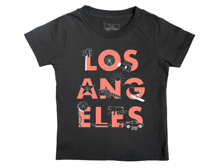 los angeles font toddler tee size 6