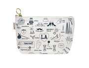 los angeles zip pouch