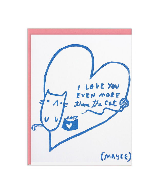 love you more than the cat card
