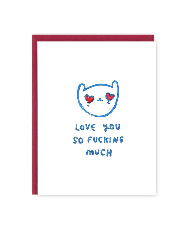 love you so fucking much card - blue